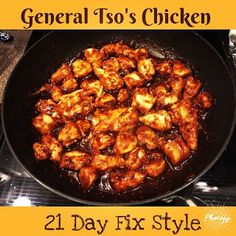 healthyhappyteacher: General Tso's 21 Day Fix Chicken  1 red, 1/2 orange, 1 tsp.
