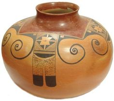 Native American Hopi Pottery : Exceptional Very Large Vintage Hopi Pottery Olla by Priscilla Namingha Nampayo #298