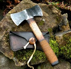Kelley's Hunter's Nessmuk Axe with Horsehide Sheath