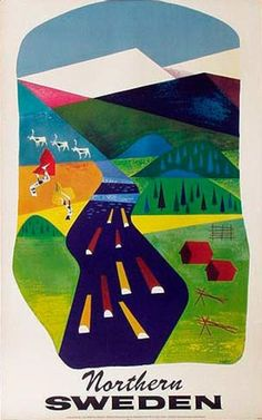 DP Vintage Posters - Sweden Northern Sweden Original Vintage Travel Poster