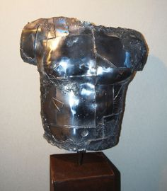 Sculpture - Buste aluminium Dimension h 60cm l 50cm Laurent Inquimbert