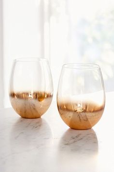 Copper Ombre Stemless Wine Glass – Set of 2