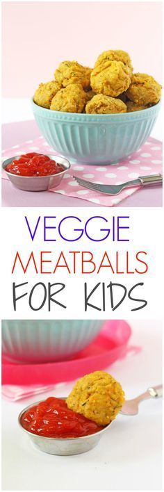 Packed full of protein, these Veggie Meatballs make a super healthy meal for kids. They're great finger food for baby led weaning too! | My Fussy Eater blog