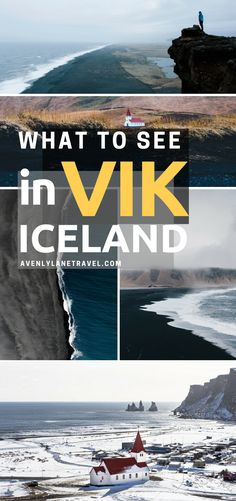 Things to do and see in Vik Iceland! Visiting the black sand beach is at the top of the list. It was truly unlike anything I have every seen before. Whether you are traveling to Iceland in the winter or summer you will not want to miss a trip to Vik. | Avenly Lane Travel