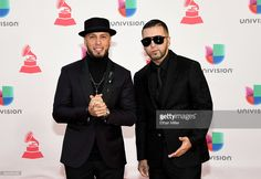 Recording artists Raul 'Alexis' Ortiz (L) and Joel 'Fido' Martinez of Alexis and Fido attend The 17th Annual Latin Grammy Awards at T-Mobile Arena on November 17, 2016 in Las Vegas, Nevada.