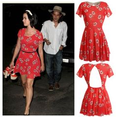 Love this dress!  I have a red floral one that I can do something like this with!