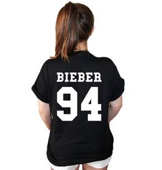 Justin Bieber D.O.B. American Varsity Football Jersey Style T Shirt... I NEED