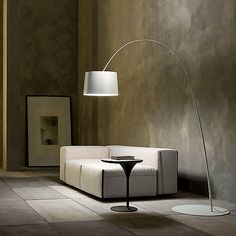 Foscarini Twiggy Floor Lamp from Lime Modern Living. Find a range of contemporary lighting from our designer Italian collection. Arc Floor Lamps, Modern Floor Lamps, Modern Lighting, Arc Lamp, Lighting Design, Twiggy, Gooseneck Floor Lamp, Home Modern, Kartell