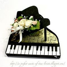 Template for piano card.  Beautiful.