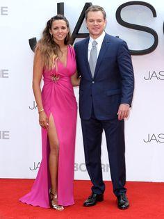 Matt Damon's wife steals the spotlight at 'Jason Bourne' premiere Matt Damon Wife, Matt Damon Jason Bourne, Celebrity Couples, Celebrity Gossip, 2016 Pictures, Bridesmaid Dresses, Wedding Dresses, Gorgeous Women, Pink Dress