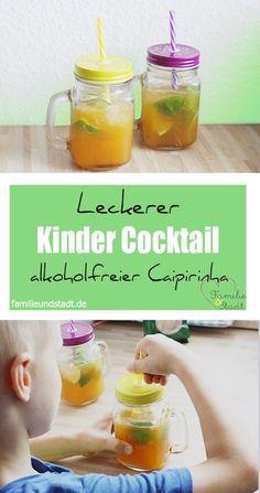 Leckerer Kinder Cocktail - Rezept alkoholfreier Caipirinha