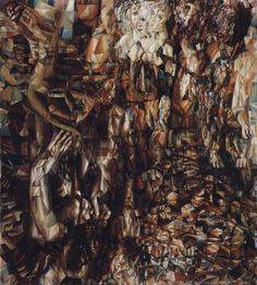 War with Germany by Pavel Filonov Size: 171.5x156 cm