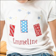 fireworks shirt for the 4th!