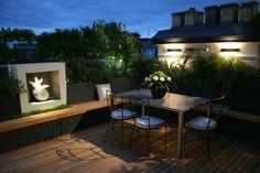 terrassengestaltung beleuchtung terrassenmöbel deko pflanzen