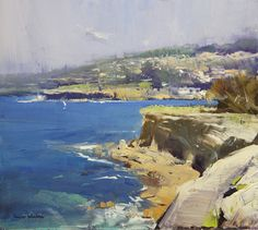 """Colley Whisson, """"Cliffs at Coogee - NSW, Australia"""""""