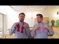 How to Tie the Perfect Bow Tie | Lessons from a Men's Shop - YouTube