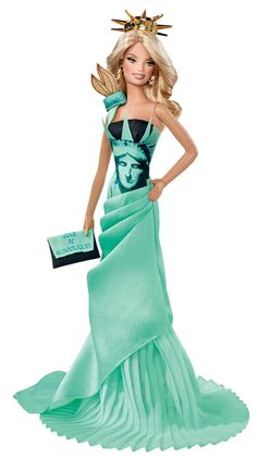 Isn't Barbie stunning as our Lady Liberty?! #BarbiesFavorites