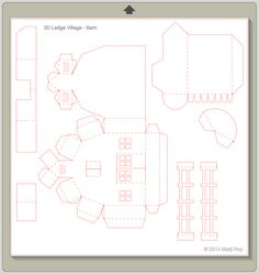 Ashbee Design Silhouette Projects: 3D Ledge Village – Barn