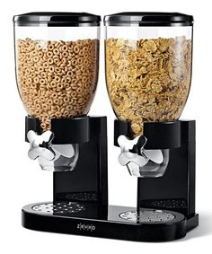 Black Dry Foods Dual Dispenser