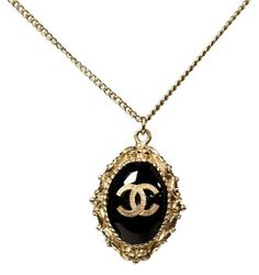Chanel CC Logo Black Gold Chain Long Necklace. Get the lowest price on Chanel CC Logo Black Gold Chain Long Necklace and other fabulous designer clothing and accessories! Shop Tradesy now