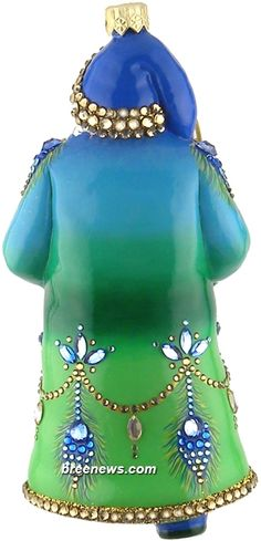 Decorating (Shades Of Peacock) Patricia Breen Designs (Blue, Gold, Green, Peacocks, Sculpture Adornment, Santa)