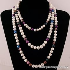 Multicolor Freshwater Pearl Jewelry Necklace