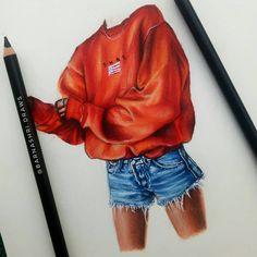 Realistic Pencil Drawings, Pencil Art Drawings, Art Sketches, Fashion Design Drawings, Fashion Sketches, Cute Disney Drawings, Fashion Drawing Dresses, Watercolor Fashion, Color Pencil Art