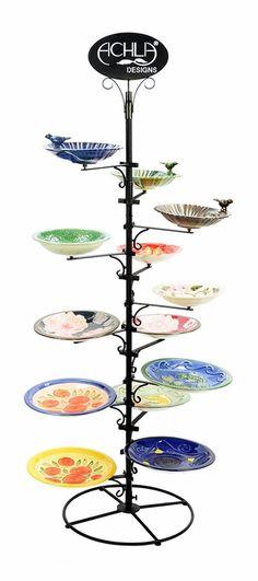 POP Ceramic Birdbath Display