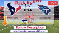Tennessee Titans vs Houston Texans Live : Score and Stats  Free For You