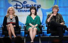 """(L-R) Actresses Tiffany Thornton, Demi Lovato and actor Sterling Knight of the television show """"Sonny with a Chance"""" atten the Disney/ABC Television Group portion of the 2009 Winter Television Critics Association Press Tour at the Universal Hilton Hotel on January 16, 2009 in Los Angeles, California. (Photo by Frederick M. Brown/Getty Images) *** Local Caption *** Tiffany Thornton;Demi Lovato;Sterling Knight"""
