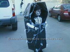 Skeleton in Coffin DIY Costume