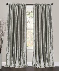 Loving this Silver Bells Velvet Dream Window Curtain Panel - Set of Two on #zulily! #zulilyfinds