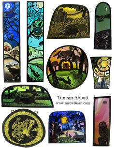 """""""Night and day"""" and other beautiful stained glass art by Tamsin Abbott"""