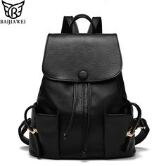 $45.98 (Buy here: https://alitems.com/g/1e8d114494ebda23ff8b16525dc3e8/?i=5&ulp=https%3A%2F%2Fwww.aliexpress.com%2Fitem%2F2016-New-Arrival-Backpack-Women-High-Quality-PU-Leather-Backpack-Female-Casual-Travel-Bags-Mochilas-Feminina%2F32656047142.html ) 2016 New Arrival Backpack Women High Quality PU Leather Backpack Female Casual Travel Bags Mochilas Feminina Teenagers Backpacks for just $45.98