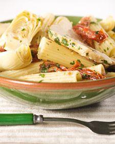 Pasta Lazio (artichokes, sun dried tomatoes, chicken and white wine)