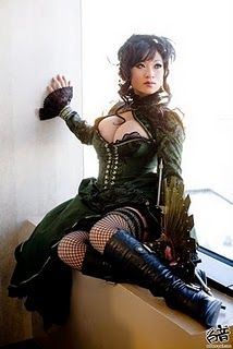 The are a few of my favorite things....fashion Victorian burlesque costumes Moda Steampunk, Couture Steampunk, Chat Steampunk, Style Steampunk, Gothic Steampunk, Steampunk Clothing, Steampunk Fashion, Gothic Fashion, Girl Fashion