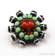 Lampwork Focal Bead by hippkittybeads on Etsy