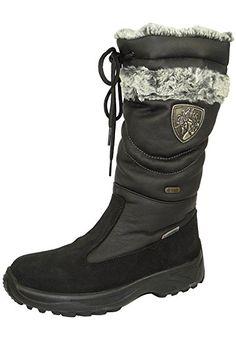 Delle Lackner Donna Inverno Stivali Stivali invernali Spikes 7634 TAMARA Ls TX OC Nero Nero, Lackner Schuhe Damen EU/UK:36 (3.5 UK)