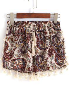 pantalon avec cordon -multicolore  13.50