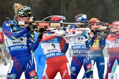 Marie Dorin Habert of France takes 2nd place during the IBU Biathlon World Cup Men's and Women's Mass Start on January 10, 2016 in Ruhpolding, Germany. January 10, 2016| Crédits : Vianney Thibaut/Agence Zoom