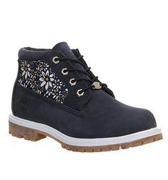 Timberland Nellie Chukka Double Waterproof Boot Black Iris Daisy Print - Ankle Boots