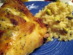 Broiled chicken with lemon couscous Turbo Broiler Recipes, Lemon Chicken, Couscous, Poultry, Crisp, Dinners, Tasty, Meat, Drinks