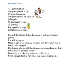 Kip ananas salade Food, Meals