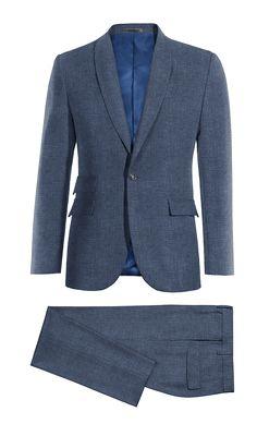 Blue linen Suit http://www.tailor4less.com/en-us/men/suits/4019-blue-linen-suit
