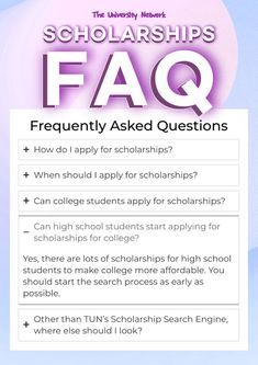 Find answers to your frequently asked (scholarship) questions on The University Network, and find scholarships to fund your dreams! High School Students, College Students, Scholarship Search Engine, Scholarships For College, University, How To Apply, Dreaming Of You, Dreams, College Guys