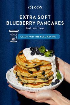 Breakfast Pancakes, Breakfast Items, Pancakes And Waffles, Breakfast Dishes, Breakfast Recipes, Blueberry Pancakes, Brunch Dishes, Brunch Recipes, Baby Food Recipes