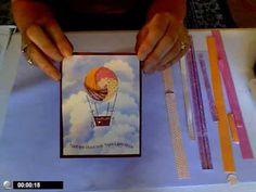 Iris Folding-Hot Air Balloon Card