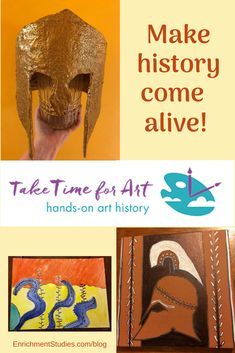 Take Time for Art is a hands-on video art curriculum that integrates history and art history with engaging art projects for homeschool families. Cool Art Projects, Projects For Kids, Ancient Egyptian Art, Ancient Rome, Ancient Greece, Rome Art, Greece Art, Art Curriculum, Art Courses