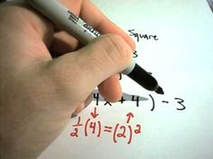Completing the Square and Vertex Form of Quadratic Equations - How to complete the square and vertex form of quadratic equations is explained.  For more free math videos, visit http://PatrickJMT.com and click on the 'Free Video Lessons' tab on the left!    Just Math Tutoring