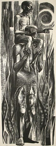 Lynd Ward : Taro Men at Davidson Galleries